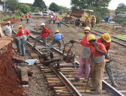 Iniciada mais uma fase da transposição da linha férrea