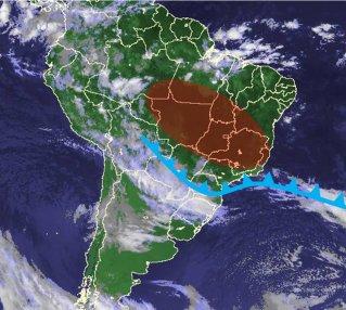 Frente fria se desloca para o Paraná