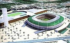 Maquete do novo estádio de Fortaleza para a Copa 2014
