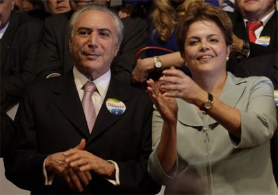 Dilma e Temer serão diplomados hoje no TSE