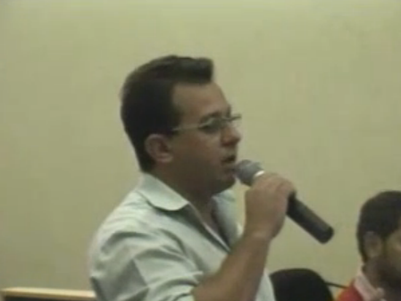 Vereador Conrado Scheller critica vereador durante reunião na Câmara no Sábado dia (02)