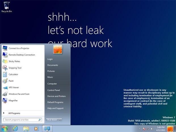 """Um dos primeiros """"builds"""" do Windows 8 vaza na internet"""