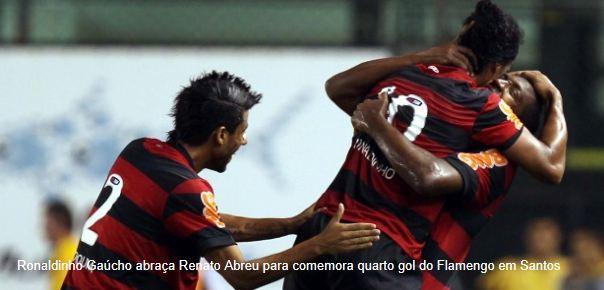 Flamengo vence Santos num jogo espetacular na Vila