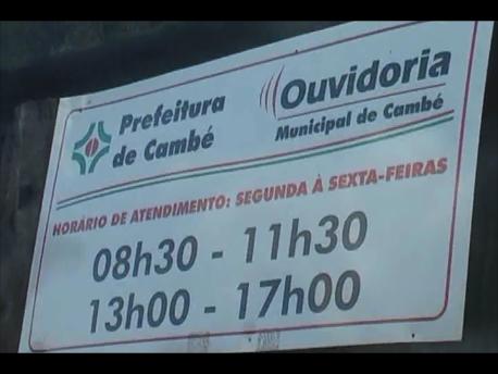 Ouvidoria Municipal de Cambé esta em novo endereço. (Vídeo)