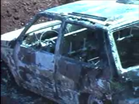 Fiat Uno roubado na Santa Casa é encontrado em chamas em Cambé (Video)
