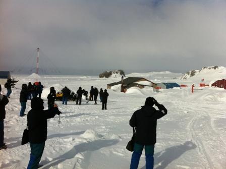 Comitiva brasileira na Antártica