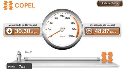 Medidor de velocidade de conexão da Copel é destaque internacional