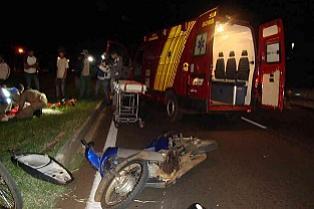 Mulher fica ferida em acidente na BR-369