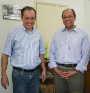 Cambeense economista do Banco Mundial visita o prefeito João Pavinato