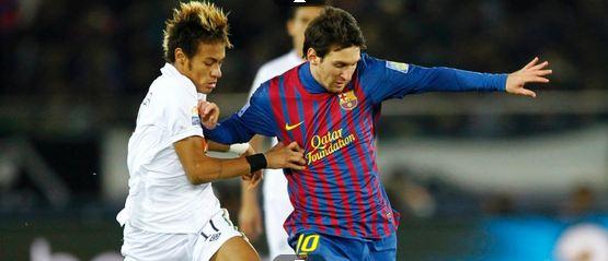 Messi controla final, marca dois gols, e Barcelona leva bi mundial goleando o Santos