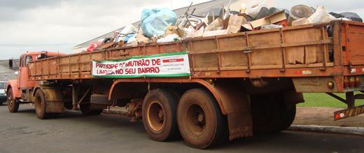Mutirões contra dengue recolhem 70 caminhões de materiais recicláveis