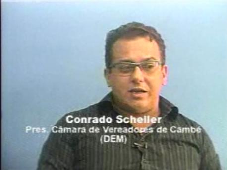 Entrevista com o Presidente da Câmara de Vereadores de Cambé, Conrado Scheller (DEM)