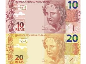 BC lança semana que vem notas de R$ 10 e R$ 20 da segunda família do real