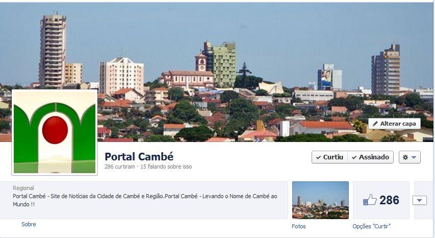 Vamos CURTIR a página do Portal Cambé no Facebook