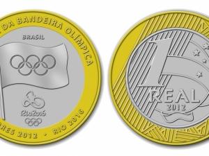 Banco Central lança moedas comemorativas à entrega da bandeira olímpica
