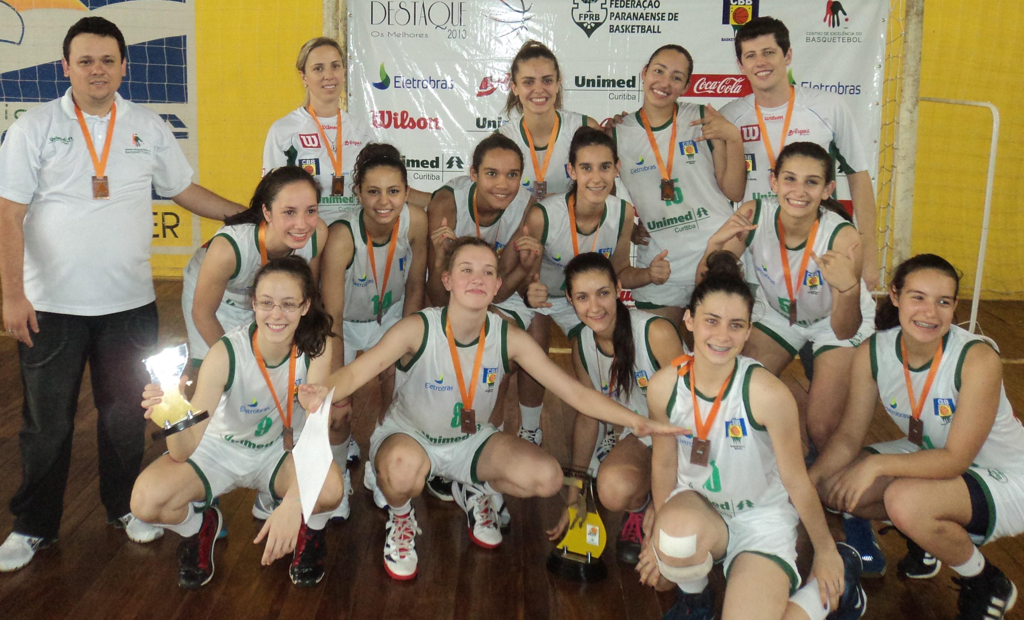 Seleção do Paraná conquista o terceiro lugar no Campeonato Brasileiro de Basquete Feminino