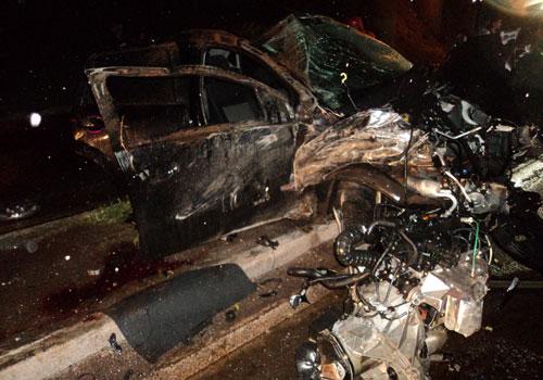 BR-369: motorista cai de viaduto e fica gravemente ferido