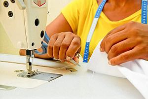 Vagas para os cursos de costura industrial e metalmecânica