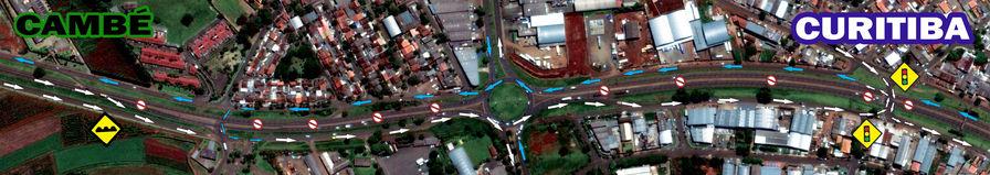 Trânsito na PR 445, em Londrina, muda para obras de duplicação