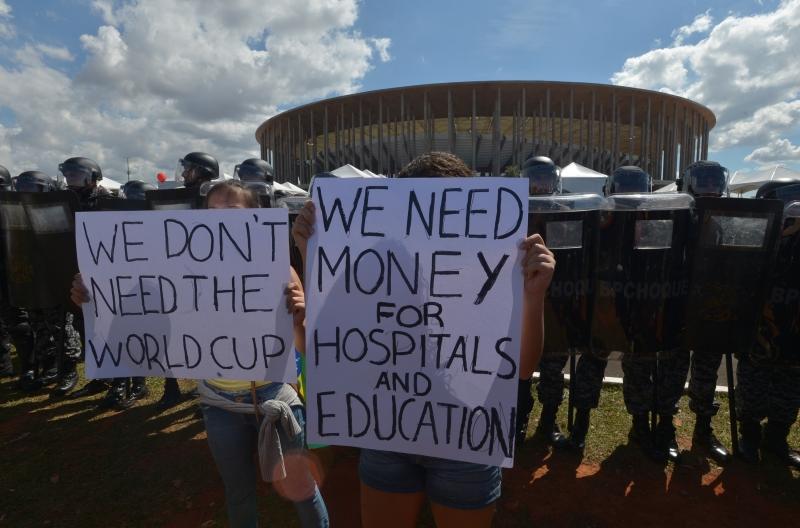 Manifestantes protestam contra Copa das Confederações