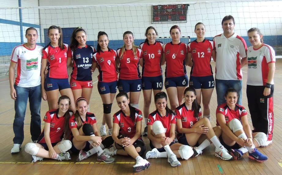 Equipe de voleibol adulta feminina de Cambé iniciou sua participação na Liga de Voleibol do Paraná