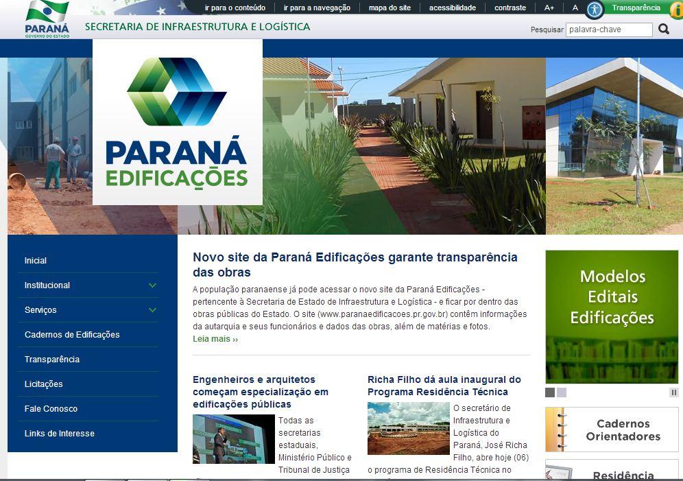 Novo site da Paraná Edificações garante mais transparência