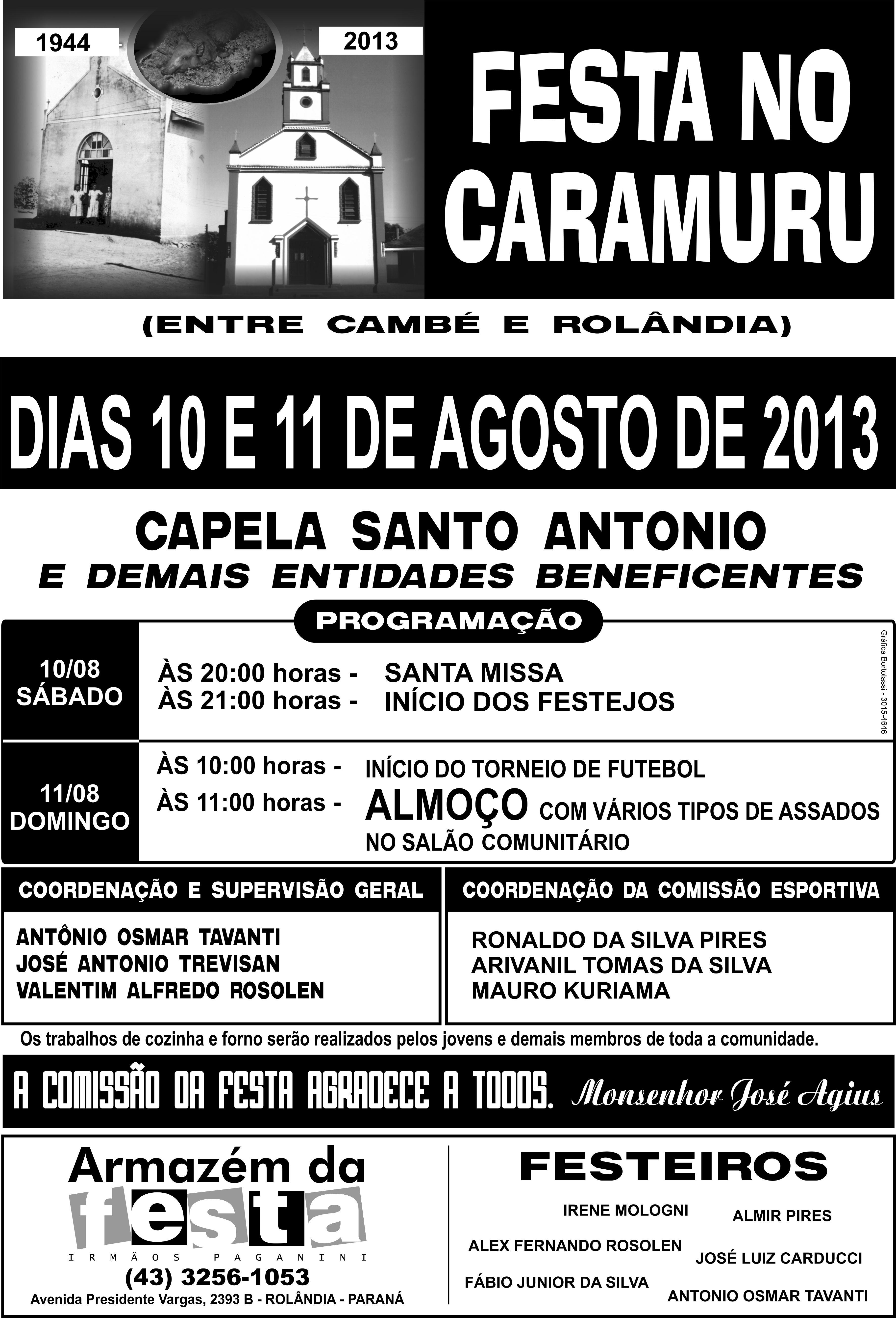 Convite: Festa no Caramuru em Cambé
