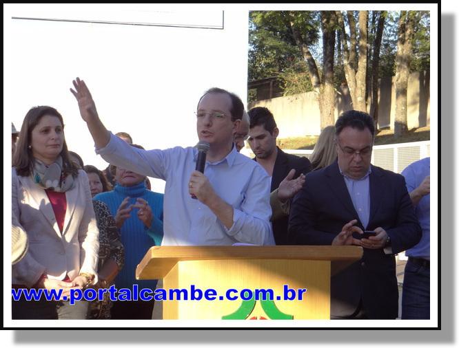 Com discurso emocionado prefeito João Pavinato inaugura UPA de Cambé (Vídeo)