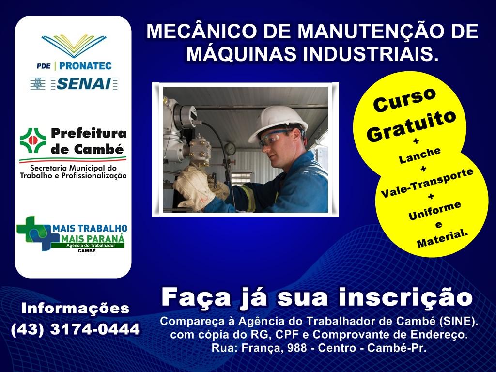 712db322a Agência do Trabalhador de Cambé (Sine) oferece cursos gratuitos · Empregos  ...
