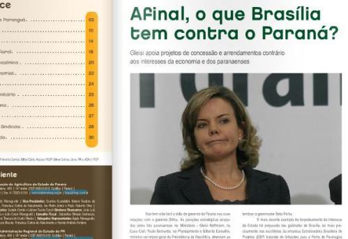 Não vaiem o Paulo Bernardo, pede Dilma  em Campo Mourão (Vídeo)