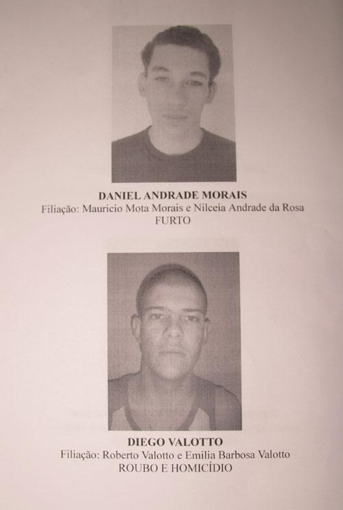 Polícia divulga fotos de fugitivos do 4ºDP em Londrina