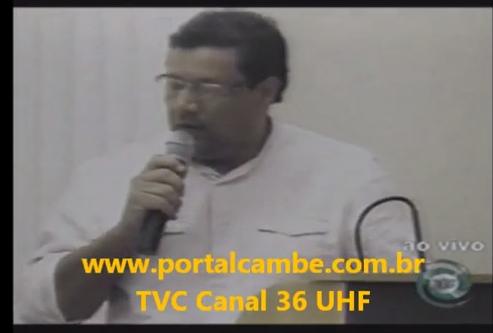 Tribuna Livre da Câmara de Cambé – Carlos Sales (Vídeo)