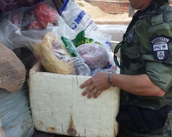 POLICIAIS AMBIENTAIS APREENDEM MAIS DE 3500 METROS DE REDE EM JANDAIA DO SUL