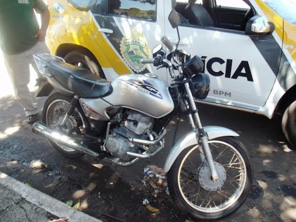 Moto roubada em Londrina é recuperada em Cambé