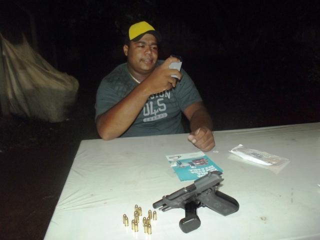 Segurança apreendido com Pistola 380 no centro de Cambé