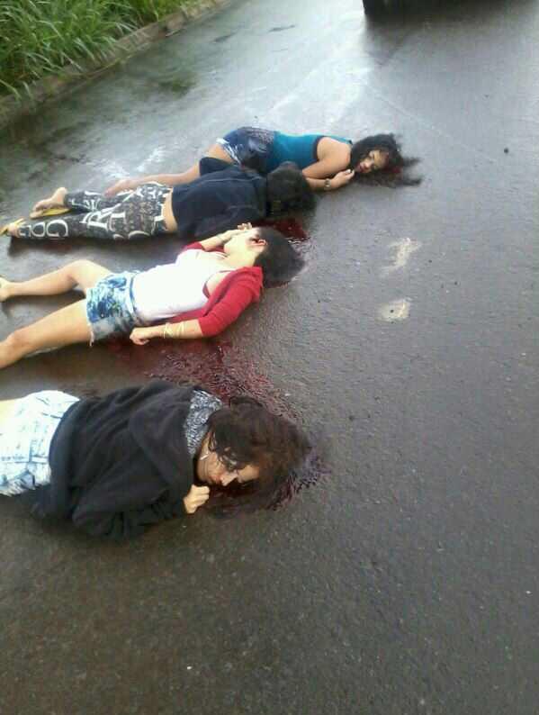 Quatro adolescentes foram encontradas assassinadas com tiros na cabeça