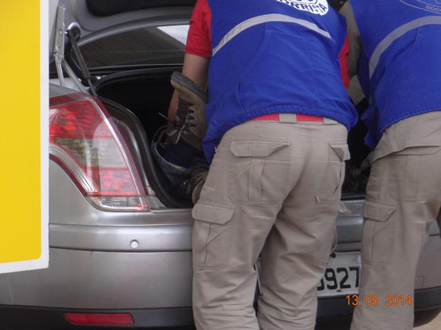 Casal é preso com cadaver escondido no Portal-Malas em Cambé