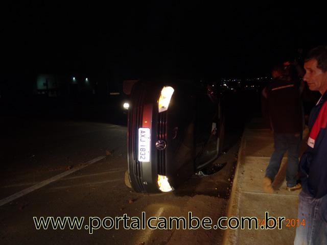 Homem embriagado provoca acidente na PR 445 em Cambé