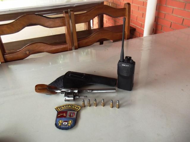 Após denuncia da esposa Policia Militar tira arma de circulação em Cambé