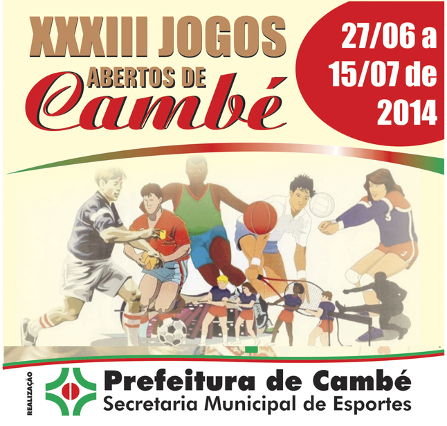 Começa nesta sexta-feira (27 de junho), o 33º Jogos Abertos de Cambé