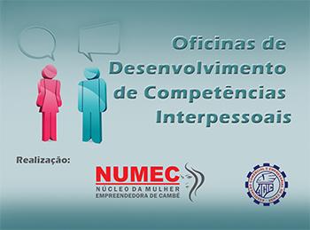 """ACIC e NUMEC organizam as """"Oficinas de Desenvolvimento de Competências Interpessoais"""" em Cambé"""