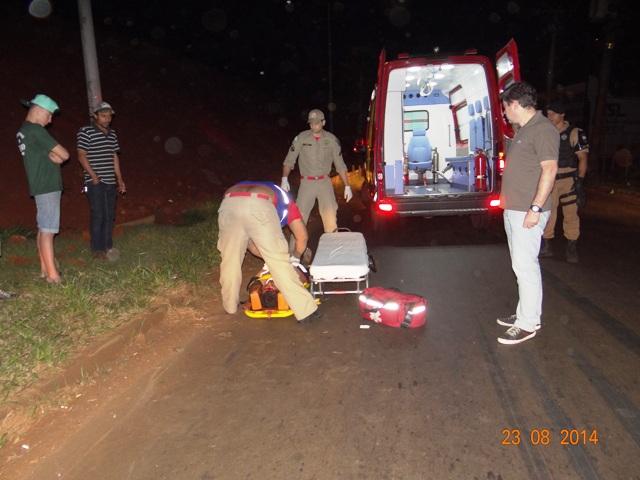 Ciclista fica em estado grave após ser atropelado na marginal da PR 445 em Cambé