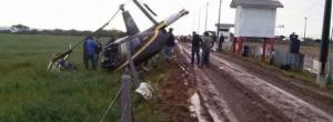 Cinco pessoas ficam feridas após queda de helicóptero no Paraná