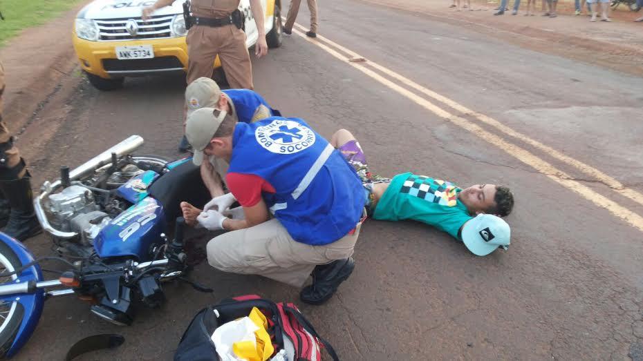 Jovem de 18 anos tenta fugir da abordagem e acaba baleado em Cambé