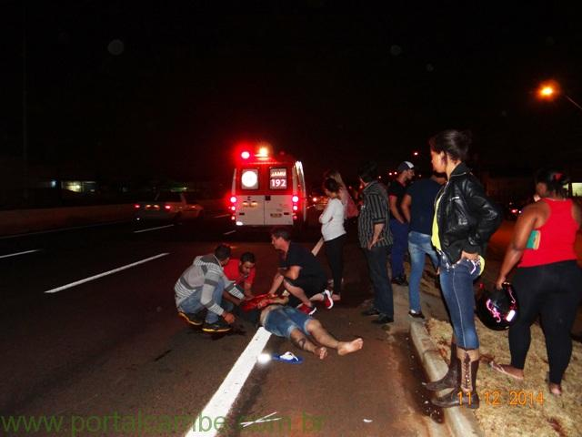Jovem de 18 anos fica em estado grave após atropelamento na PR 445 em Cambé