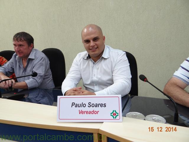 Vereador Paulo Soares é eleito novo presidente da Câmara de Cambé