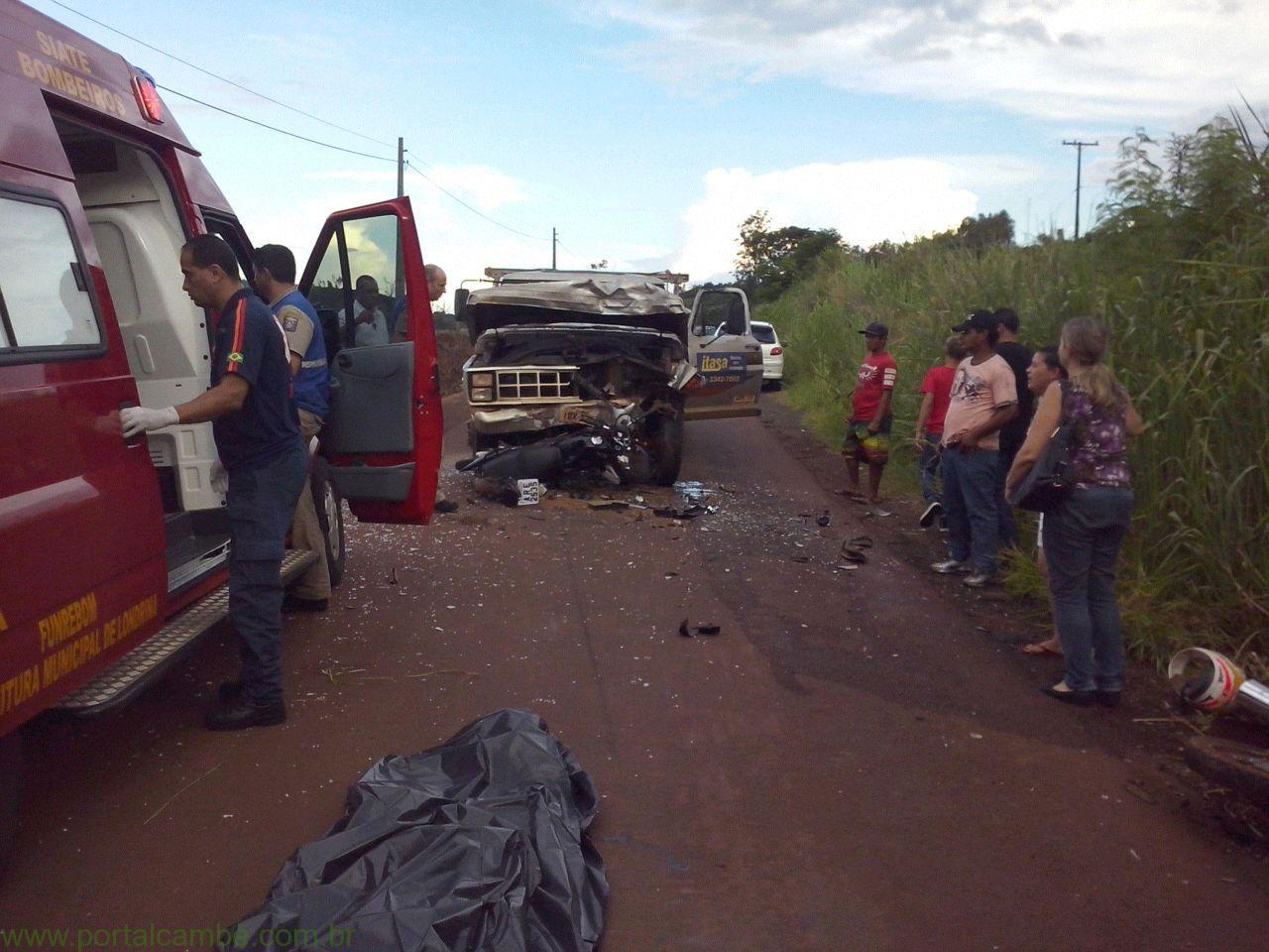Londrina: de moto, adolescente de 14 anos morre em colisão; outro, de 15, fica em estado grave