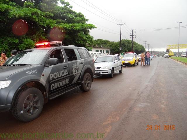 Polícia Militar de Cambé recupera veículo e prende assaltantes na PR 445