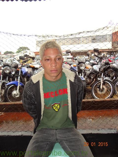 Polícia Militar prende acusado de Roubo em padaria de Cambé