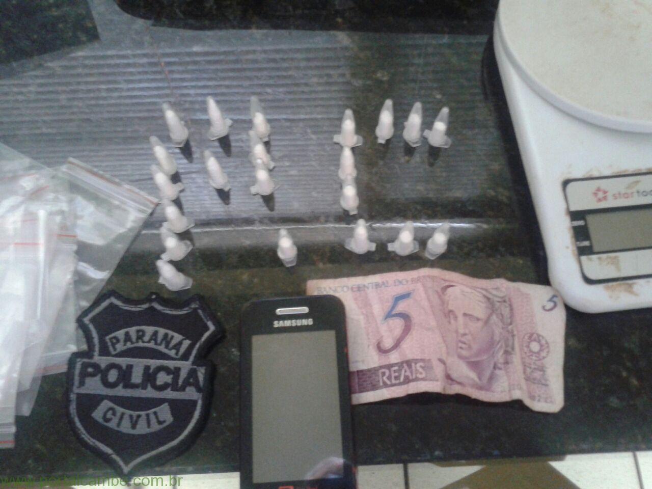 Polícia Civil apreende menor com 21 pinos de cocaína no Jardim Campos Verdes (Vídeo)